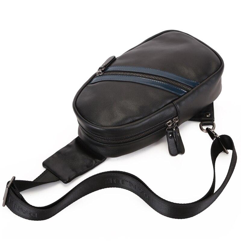 Les Pack Véritable Unique Sling Poitrine Black Noir Sacs Danjue Mode À Hommes Marque Cuir Bandoulière Nouvelle Sac Messenger De En Pour ZqfwA