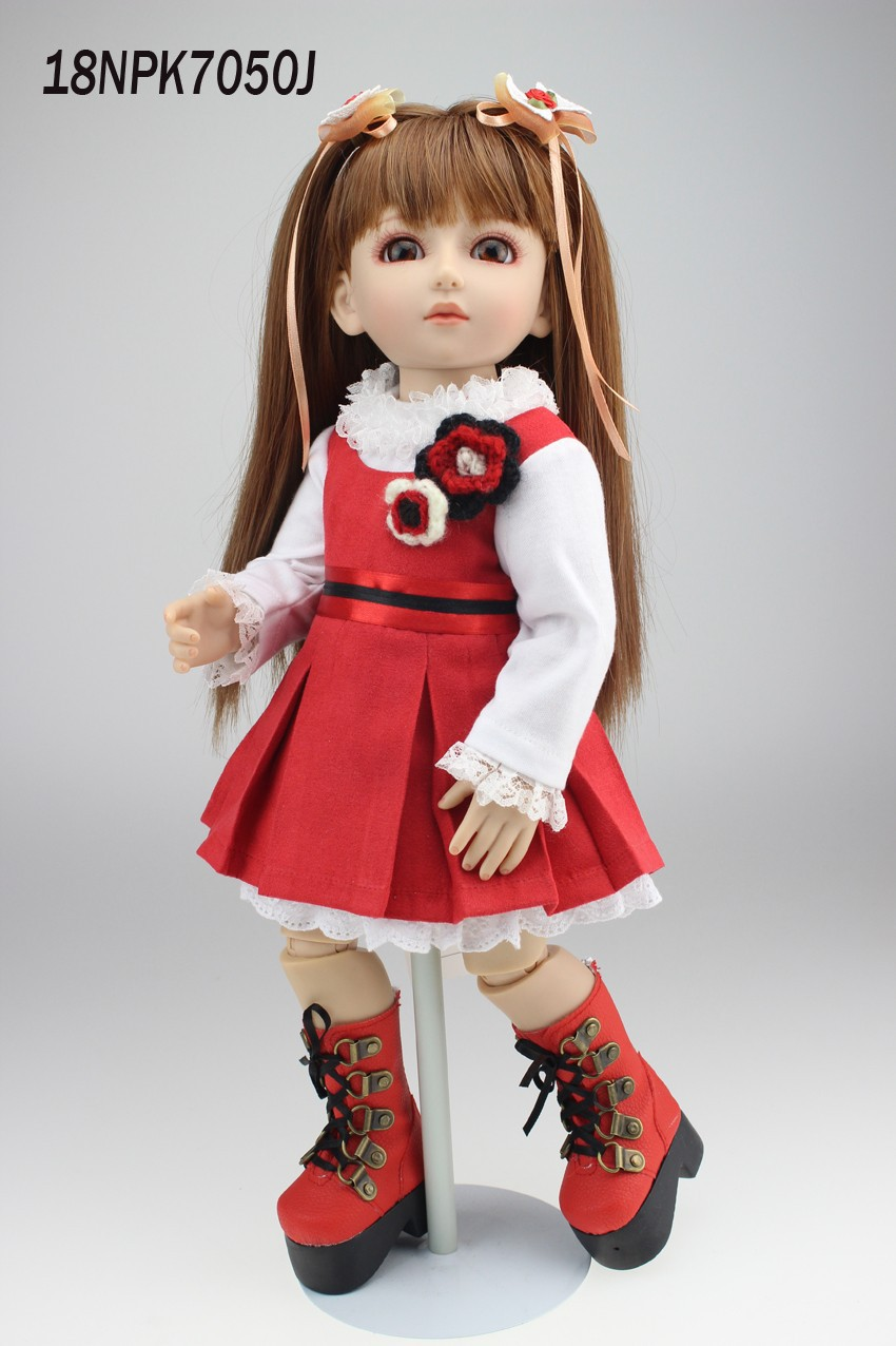 NPKCOLLECTION beautiful SD/BJD doll 18inch top quality handmade doll poseable with joints in red skirt uncle 1 3 1 4 1 6 doll accessories for bjd sd bjd eyelashes for doll 1 pair tx 03