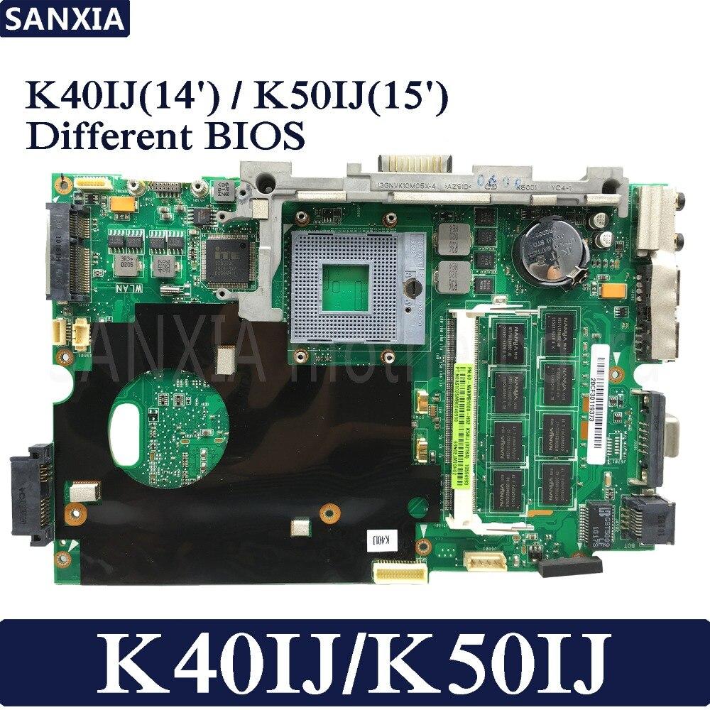 KEFU K40IJ K50IJ Laptop motherboard für ASUS K40IJ K50IJ K60IJ X5DIJ K40IN K50IN K40AB K50AB K40 K50 Test original mainboard