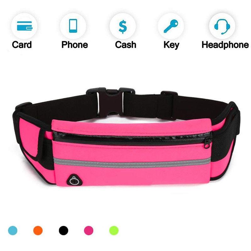 d31efc973c64 Unisex Bum Bag Running Travel Handy Sport Fanny Pack Waist Money Belt Zip  Pouch Storage Bags Zip Fanny Pack