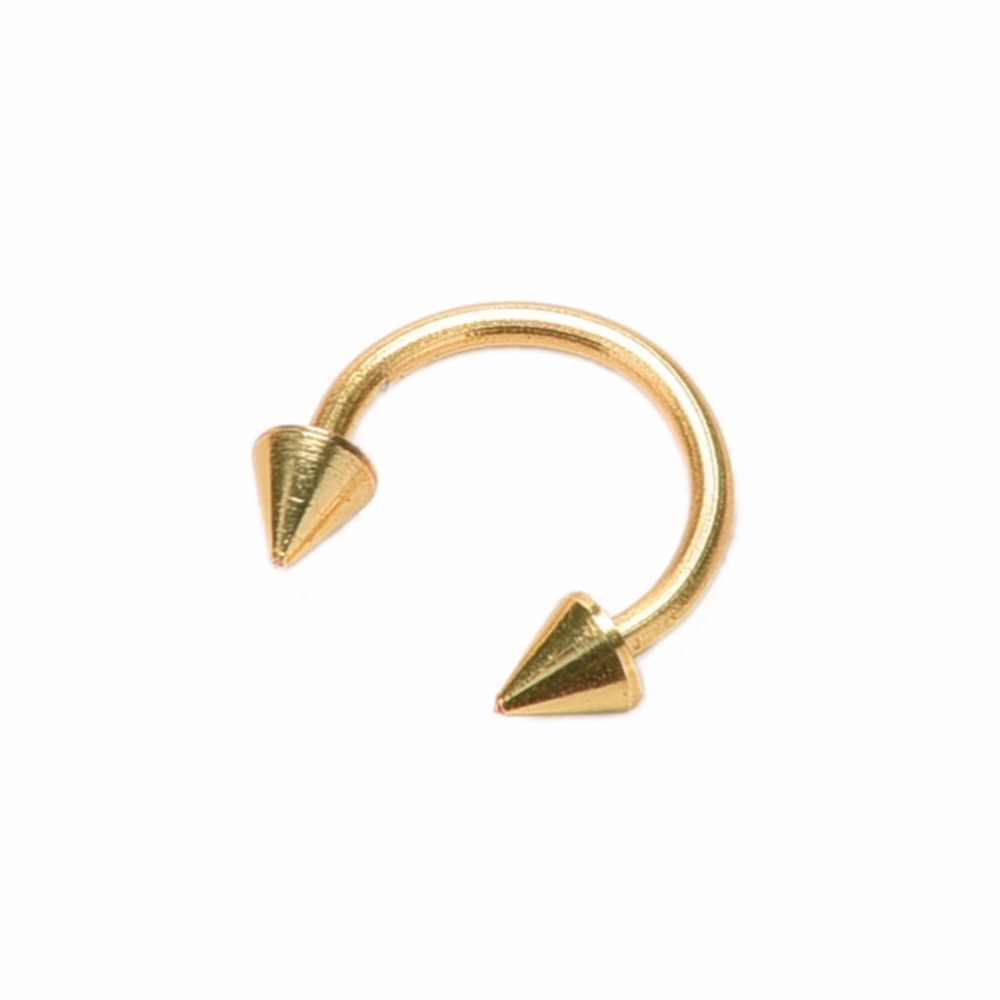 1Pc כירורגי נירוסטה עגול משקולות פרסת מזויף האף טבעת שפתיים פירסינג עגיל Tragus טבעת