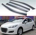 Для Peugeot 308 2011 2012 2013 2014 2015 пластиковый Наружный козырек вентиляционные оттенки окна Защита от солнца и дождя дефлектор 4 шт
