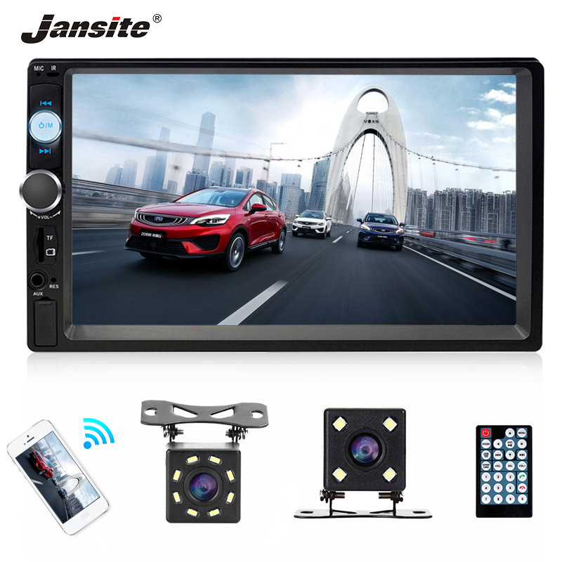 Jansite 2 din 7 FHD MP5 Player Multimedia Player Phone Link 4 Led 8 Led rear