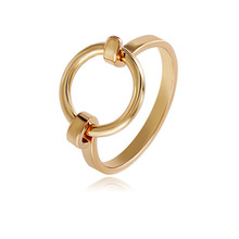 Pure and fresh Three color texture ring Simple small girl ring ring fine jewelry copper ring