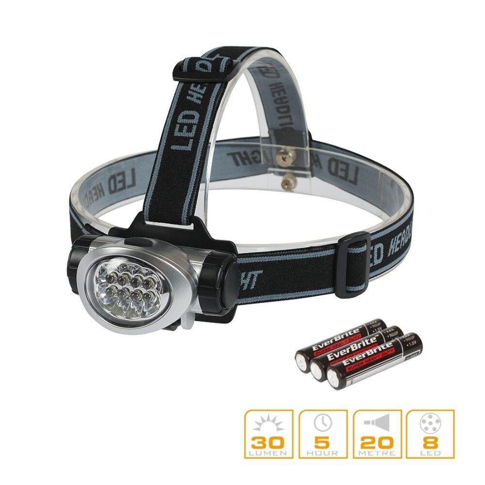 EVERBRITE-FARBEN LED Scheinwerfer Q5 Scheinwerfer Camping Licht Wandern Notfall Licht Nacht Angeln Laufen Ausrüstung