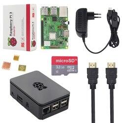 Новые оригинальные Великобритания Raspberry Pi 3 Модель B + комплект + чехол + 16 32 г SD Card + 3A мощность адаптер + кабель HDMI + теплоотвод ИРЦ 3 B плюс