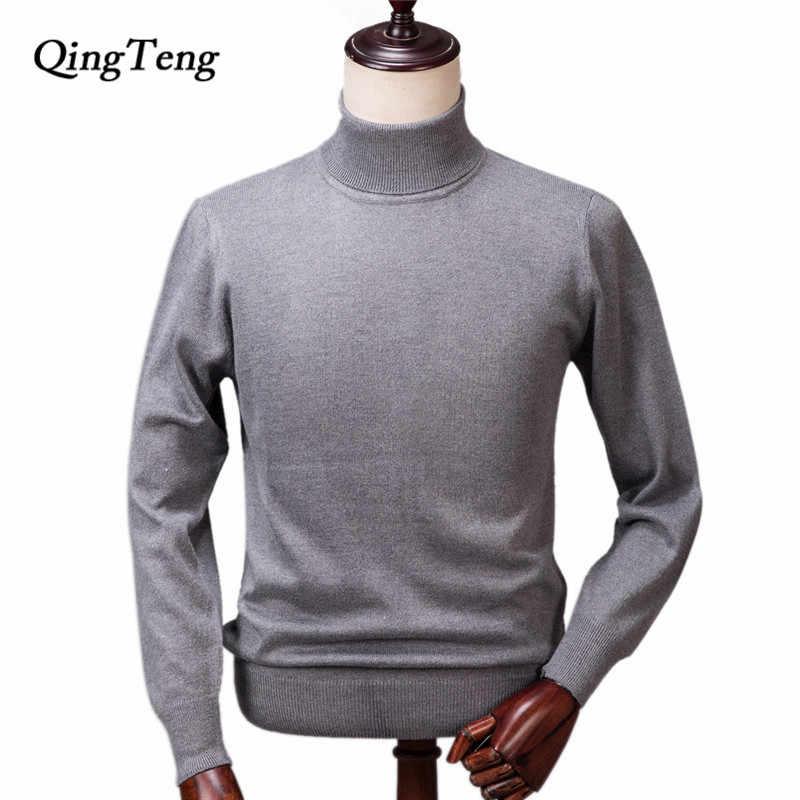 7c8114f85e3c Кашемировый свитер мужской зимний Вязаный Водолазка мужской кашемировый  шерстяной пуловер мужской большой размер теплый джемпер оптовая