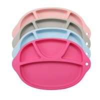 For Kids One Piece Silicone Placemat Plate Dish Food Silicone Baby Pad Feeding Food Plates Home Kitchen Pads