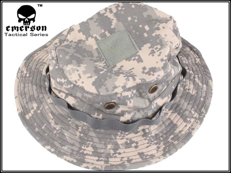 EMERSON Boonie Hat Military Tactical Army Hat Anti scrape Grid Fabric  camouflage hat Hunting Cap EM8541 ACU-in Hunting Caps from Sports    Entertainment on ... c38177ab9f36