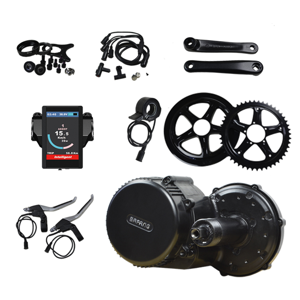 48V 500W Bafang 8Fun BBS02B Mid Crank Drive Motor Kits Electric Bike Motor C961/C965/850C Display free shipping authentic bafang 36v 350w electric bicycle bbs01 mid crank drive motor kit ebike c965 color 850c lcd conhismotor