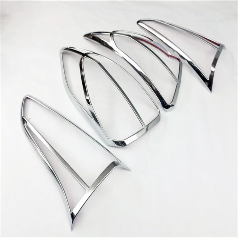 Fit For Hyundai Tucson 2015 2016 2017 Car-styling Rear Light Lamp Covers Trim ABS Chrome Taillight Decoration Cover Accessories car body styling abs chrome rear tail spoiler side triangle window bezel trim 1pcs for honda civic 10th sedan 2016 2017 2018