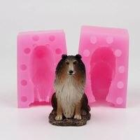 3D Dog Shaped Silicone Molds Fondant Cake Decoration Mould Handmade Soap Mold WE006