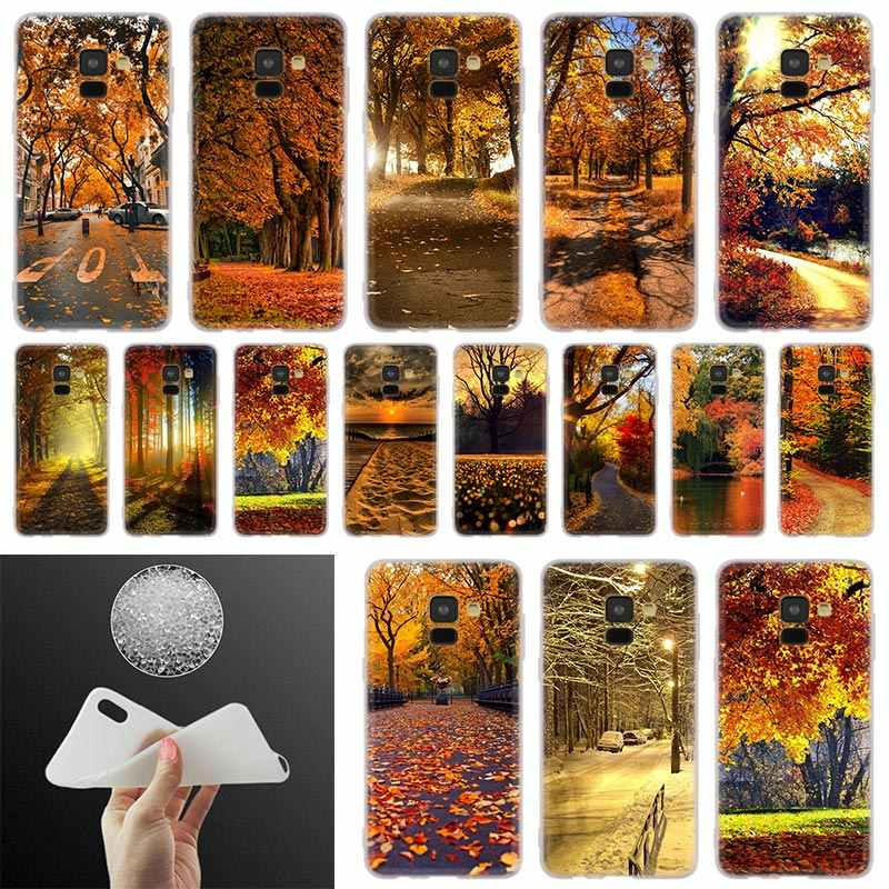 Fall Hd Wallpaper Phone Case For Samsung Galaxy A10 A20 A30 A40 A50 A60 A70 A6 A8 Plus A7 A9 2018 A3 A5 2017 Soft Cover Coque