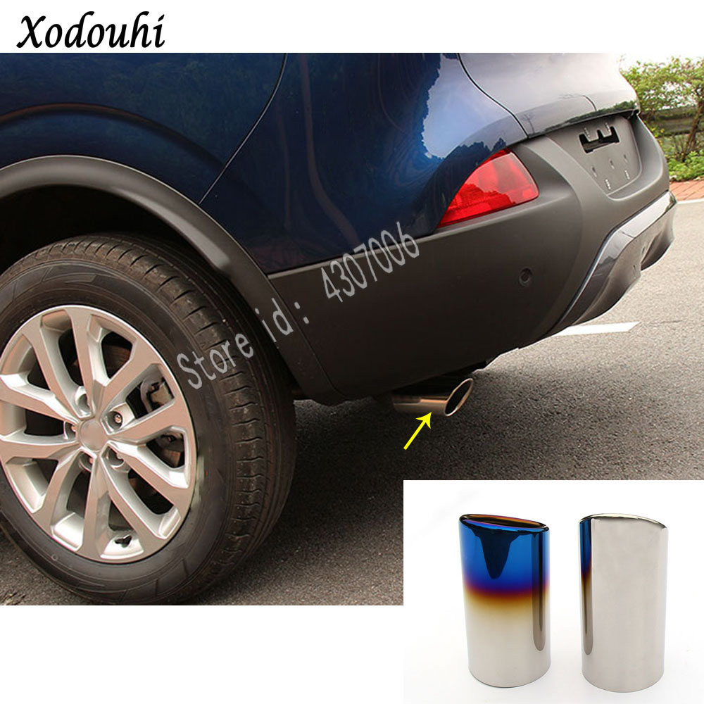 For Renault Kadjar 2016 2017 2018 car Styling muffler end back pipe dedicate stainless steel exhaust tip tail hoods outlet 1pcs in Exhaust Manifolds from Automobiles Motorcycles