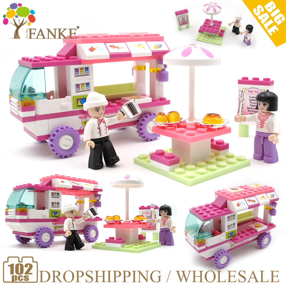 0155 102pcs Girls Dream Food car Constructor Model Kit Blocks Compatible LEGO Bricks Toys for Boys Girls Children Modeling0155 102pcs Girls Dream Food car Constructor Model Kit Blocks Compatible LEGO Bricks Toys for Boys Girls Children Modeling