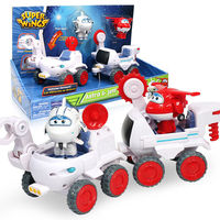 2018 Newest Transformation Super Wings Todd&Donnie Dig Rig Robot Action Figures Super Wing Deformation Astra&Jet Moon Rover Toys