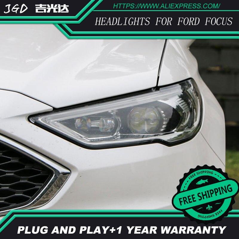 Стайлинга автомобилей Фара для Ford Mondeo 2017 Фары для автомобиля Mondeo светодиодные фары DRL H7 D2H HID би ксенон луч