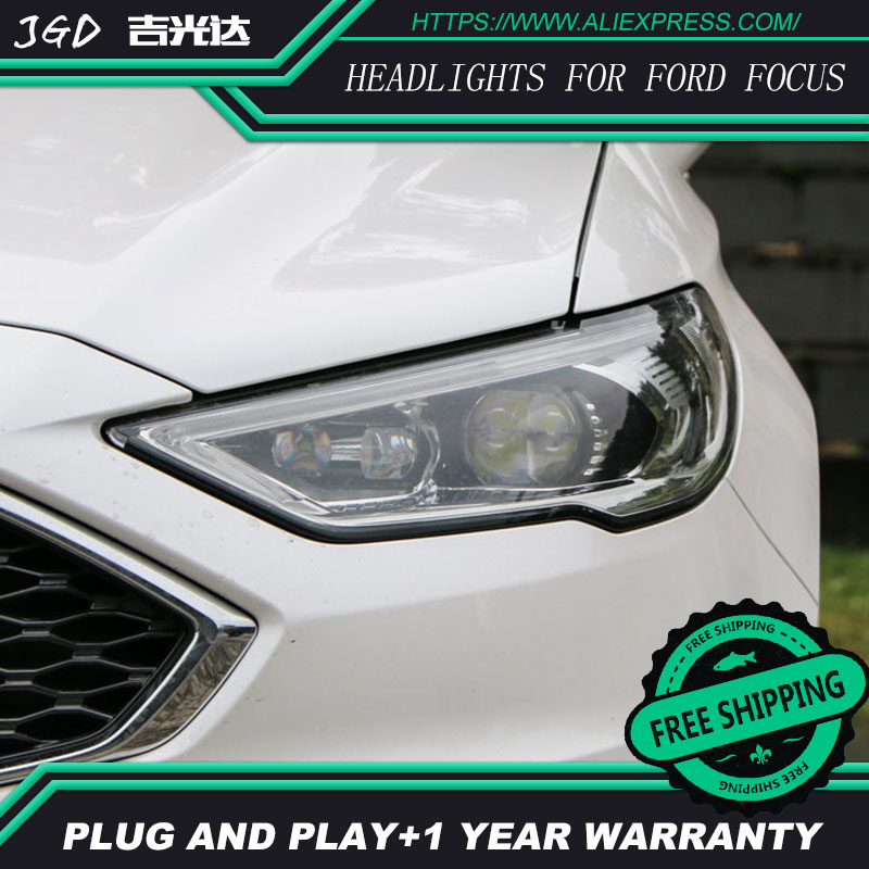 Car Styling Head Lamp for Ford Mondeo 2017 Headlights Mondeo LED Headlight DRL H7 D2H Hid Bi Xenon Beam free shipping for vland car styling head lamp for vw golf 7 headlights led drl led signal h7 d2h xenon beam