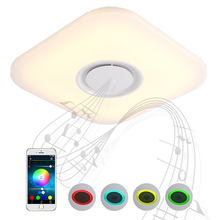 NEW Modern AC 220V 48W Music Color Change Square LED Ceiling Light With Smart Bluetooth/WIFI Remote Controlled Dimmable LED Lamp