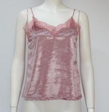 купить Women V Neck Slim Sleeveless Lace Velvet Blouse Velvet Vest Lotus Leaf Stitching Halter Top по цене 343.24 рублей