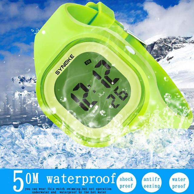 New Fashion Sports Children Watches Waterproof Alarm Watch Kids Jelly Color Wate