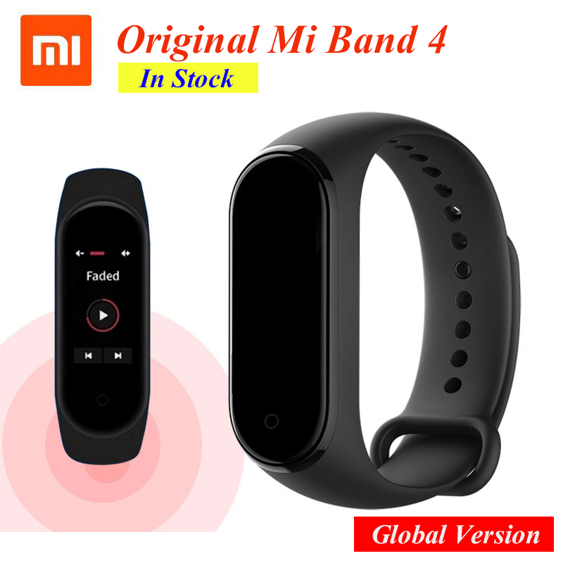 Newest 2019 Original Xiaomi Mi Band 4 Smart Color Screen Bracelet Heart Rate Fitness 135mAh Bluetooth5.0 50M Swimming Waterproof image