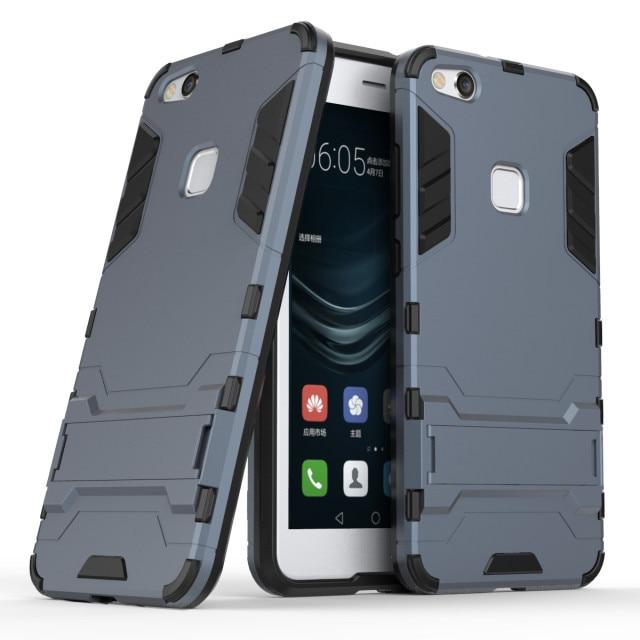 buy online 2c27e 53e77 US $4.99 |Aliexpress.com : Buy For Huawei P10 Lite Case PC + Silicone Dual  Layer Iron Man 3D Anti Shock Impact Armor Case For Huawei P 10 Lite Back ...