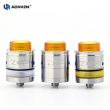 2pcs/Lot Advken Authentic Ziggs RDTA 24MM DIY Coil Building Tank Atomizer fir for 24mm E-cig Box Mod in Stainless Steel/Black