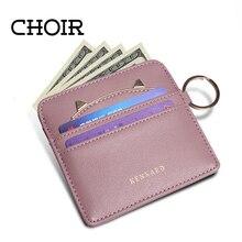 Choir Latest Women Coin Purses Holders Lovely Cat Ear Cash Credit Card Holder Wallet Girls Key Chain Money Kids Leather Purse