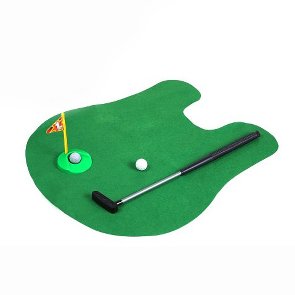Golf Game Mini Toilet Golf Putting Green Novelty Game Toy Gift For Men and Women