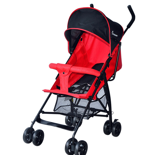 Free Shipping Baby Stroller Four Wheels Lightweight Foldable Umbrella Stroller Prams Seat Travel Pushchair Trolley For Baby