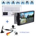 """2DIN Автомобиля Bluetooth Audio 7 """"HD Радио В Тире Экран Стерео поддержка MP3 MP5 Плеер USB + Автомобиль Заднего вида водонепроницаемая Камера"""