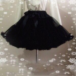 Image 2 - E JUE SHUNG Ball Gown Underskirt Swing Short Dress Petticoat Lolita Cosplay Petticoat Ballet Tutu Skirt Rockabilly Crinoline
