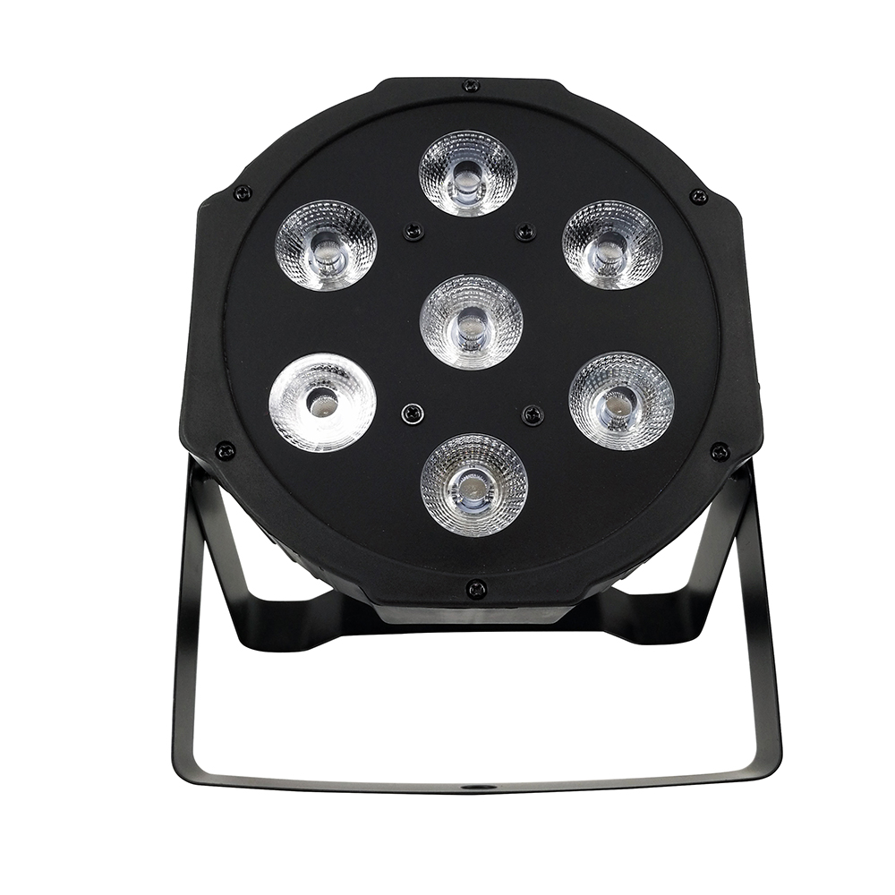2pcs/lot 2018 LED Flat Par 7x12W RGBW 4 in 1 Stage Lights High Power Light 8 Channels with Professional for Party KTV Disco DJ