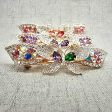 1Pcs 2017 Lady Luxury Big Spring Barrettes 9cm Alloy Women Hair clips Fashion Rhinestone girls Hairpins Hiar Clips Ornaments W33