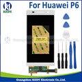 Оригинальный Мобильный Телефон ЖК-ДИСПЛЕЙ Для Huawei P6 4.7 дюймовый ЖК-желание С Сенсорным Экраном Дигитайзер Ассамблеи + инструменты