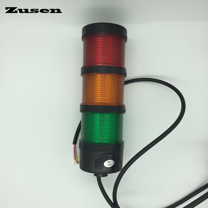 Zusen NEW TB70-3T-D 24v red yellow and green color led 70mm signal tower light of three layer