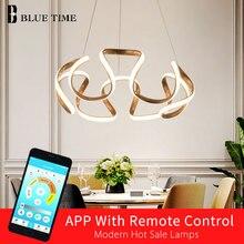 Hot Sale Modern LED Chandeliers For Dining Room Living Bedroom Plated Golden Frame Artistry Home AC110V220V