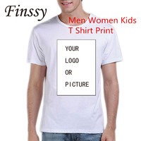 Customized Men Women Kids Customized Tshirt Print Your Own Design Picture High Quality Photograph LOGO On