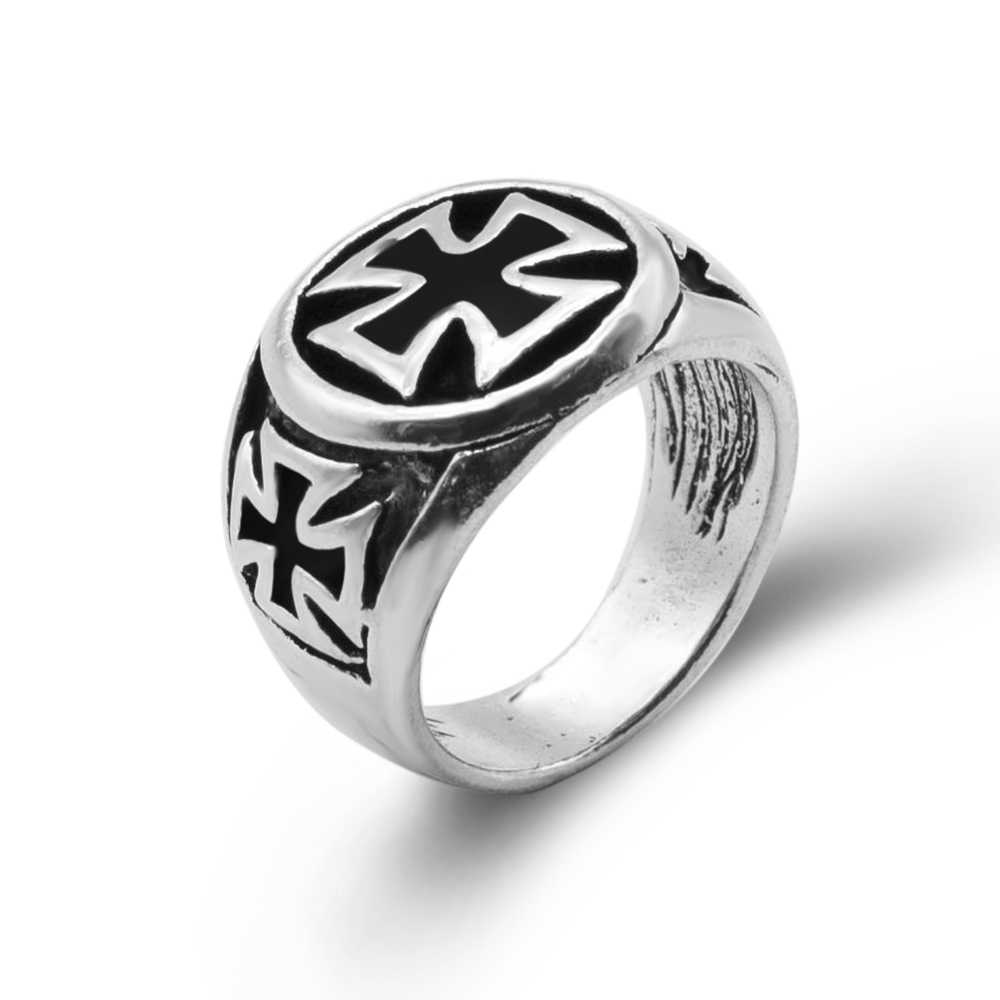 2019 New Design Vintage Cross Rings for Party Bohemian Antique Silver Plated Statement Rings for Men Fashion Jewelry