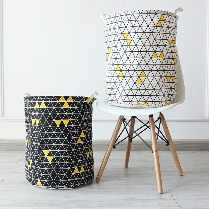 Large Geometric shapes Cloth Laundry Hamper Clothes Storage Baskets Home clothes barrel Bags kids toy storage organizer barrels