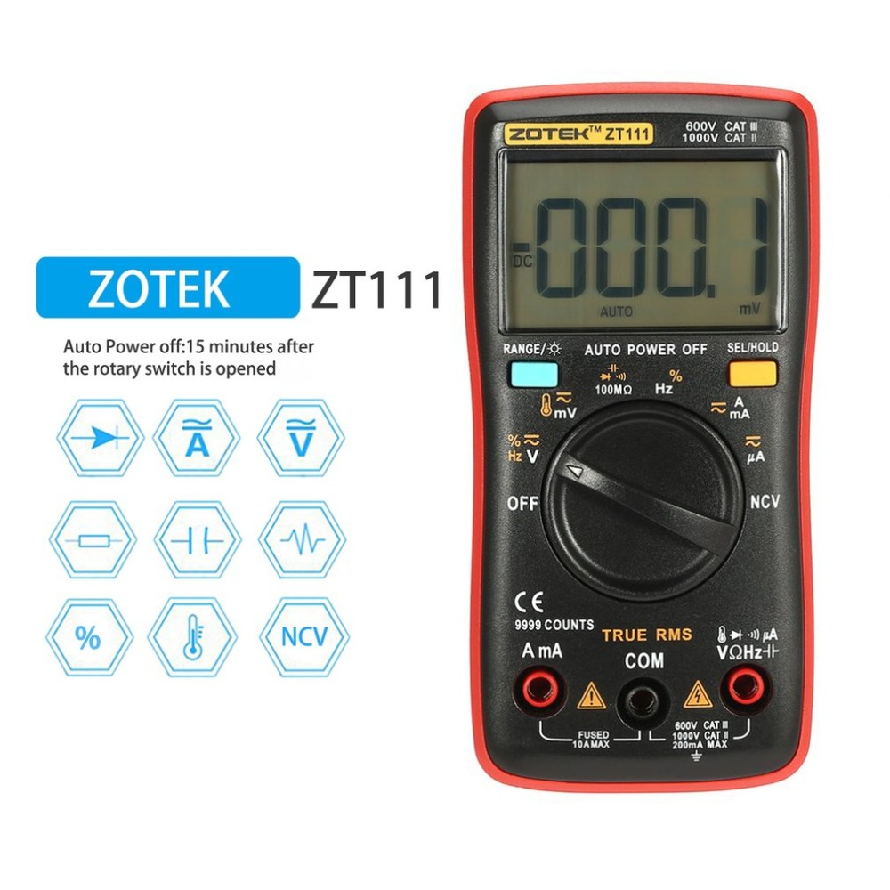 RM111 Digital Multimeter ZT111 Multimetro Transistor Tester Digital Mastech uni esr t AC/DC Voltag rm101 Clamp Meter Multimetre цена
