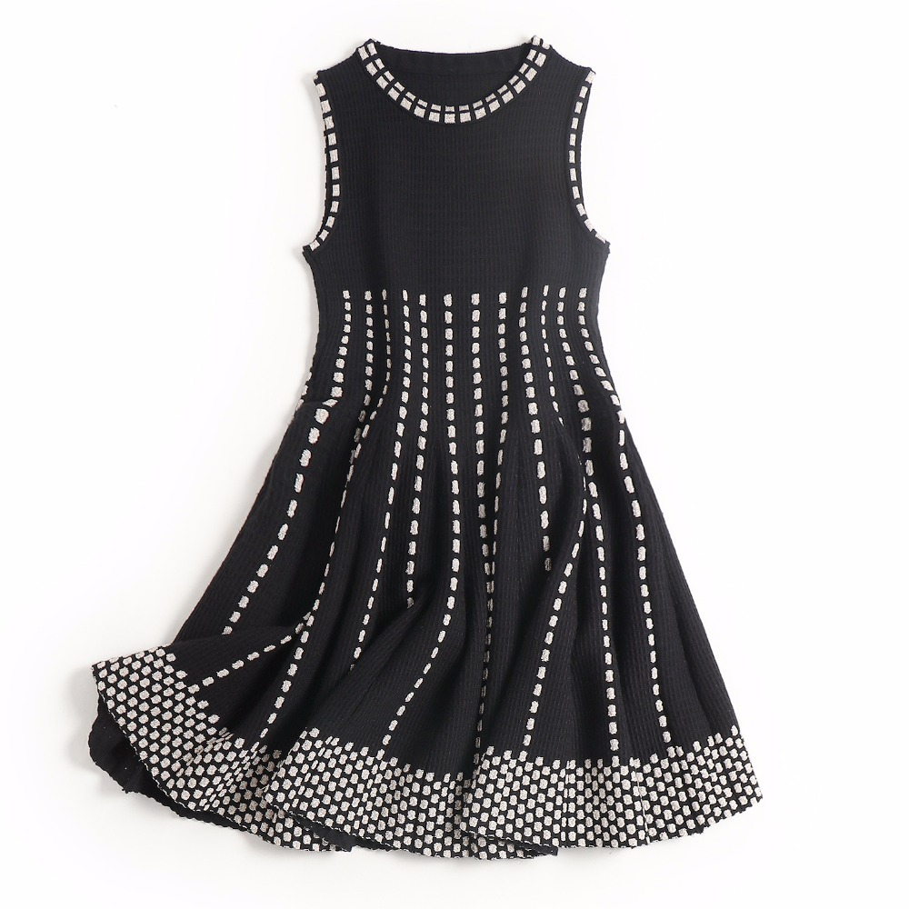 Dashing 2 Pieces Summer Beach Holiday Dress Black Blue Strips Ball Gown Mini Dress Swimsuit Women's Clothing