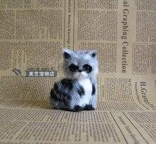 mini cute simulation raccoon toy polyethylene & fur sitting raccoon toy gift 5x4x7cm