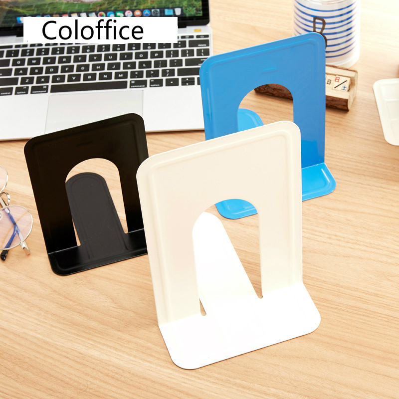 Coloffice fashion book iron creative student office bookends stand book shelf school stationery  home decoration kawaii bookends|Bookends| |  - title=