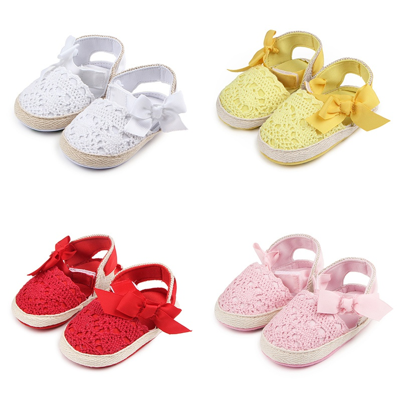 Baby Girl Shoes Bow Autumn Newborn First Walkers Baby Shoes Girl Hollow Bow Paste Toddler Princess Shoes