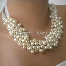 Wholesale Pearl Jewelry Handmade Wedding Pearl Necklace Brides Bridesmaids Gifts Special Occasion – XZN148