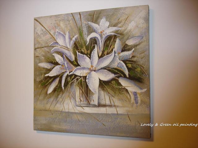 100 dipinto a mano fiori bianchi moderni semplici dipinti for Quadri semplici