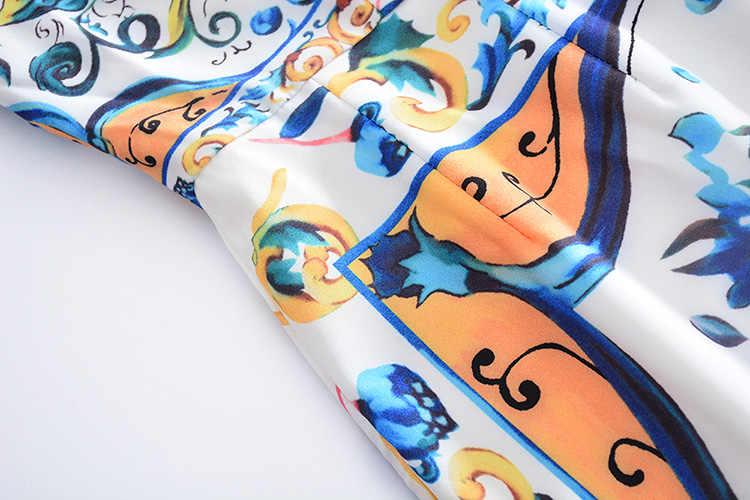 2018 Высокое качество Лето новый милый стиль квадратный воротник без рукавов с цветочным принтом Элегантный Тонкий рыбий хвост длинное платье для женщин