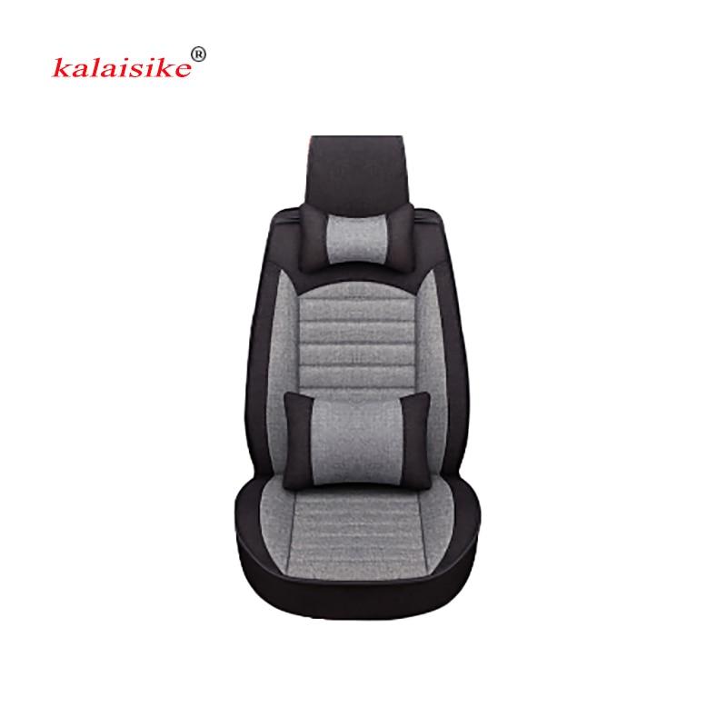 Kalaisike Flax Universal Car Seat covers for Renault all models captur kadjar fluence Captur Laguna Megane